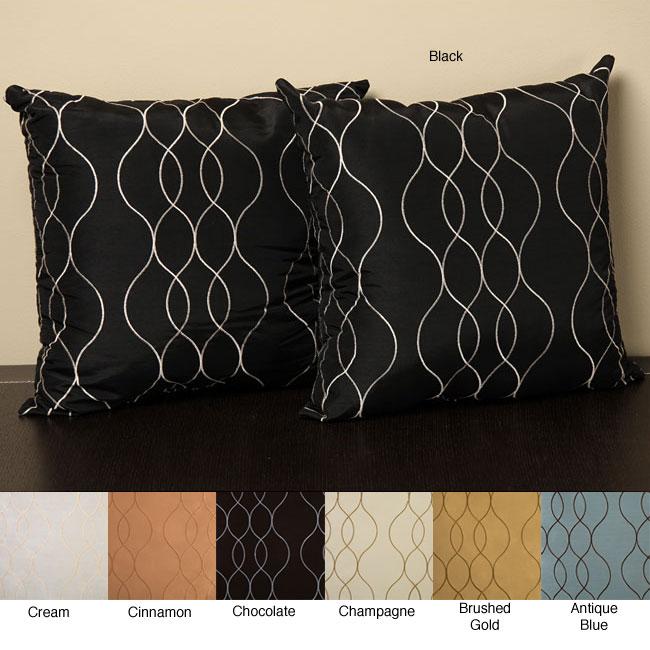 Keeva 18-Inch Polyester/Nylon Knife-Edge Pillows (Set of Two)
