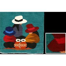 Handmade Wool 'Andean Girls' Tapestry , Handmade in Ecuador