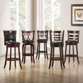 TRIBECCA HOME Verona Cherry Swivel 29-inch Barstool