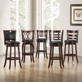ETHAN HOME Verona Cherry Swivel 29-inch Barstool