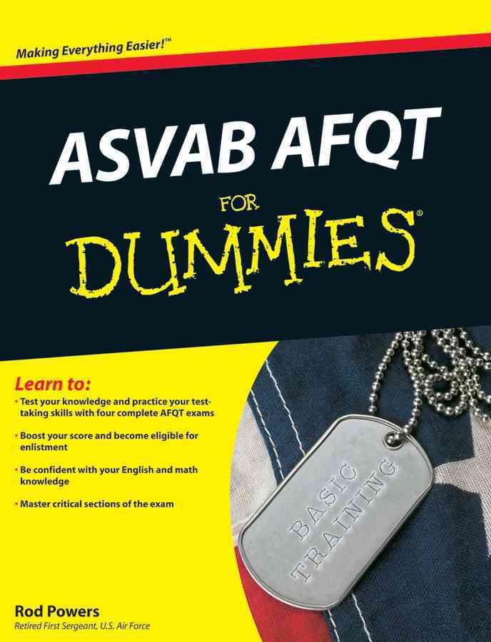 ASVAB AFQT for Dummies (Paperback)