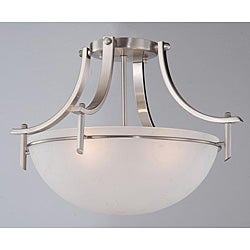 Satin Nickel 3-light Ceiling Fixture
