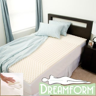 Dream Form Eco-friendly Contoured 2-inch Memory Foam Mattress Topper