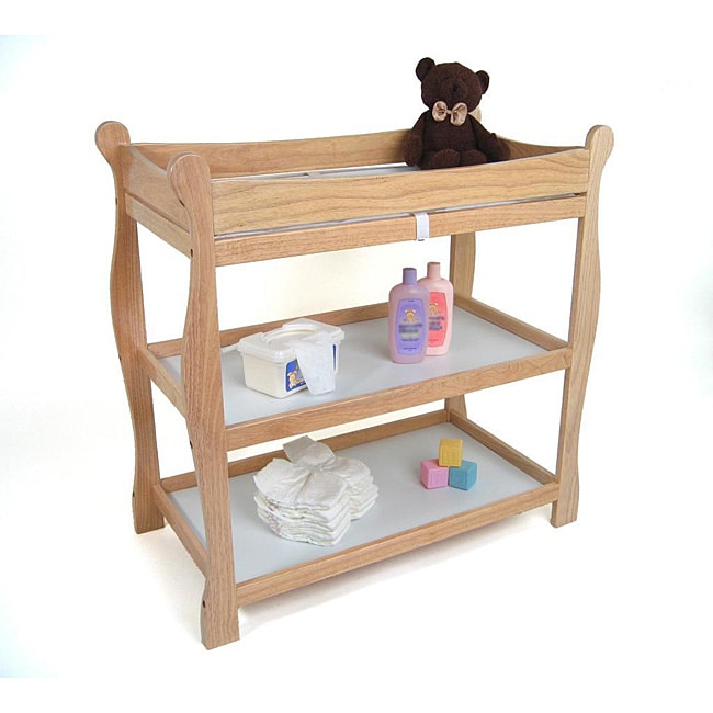 Sleigh-style Natural Changing Table