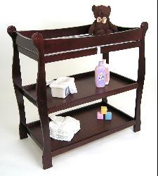 Sleigh-style Cherry Changing Table