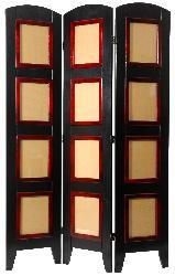 Wood and Plexiglas Photo 4-panel Room Divider (China)