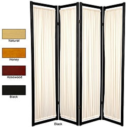 Wood and Cotton Helsinki 4-panel Room Divider (China)