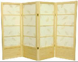 Wood 4-foot 5-panel Botanic Room Divider (China)