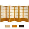 Wood 4-foot 6-panel Botanic Room Divider (China)