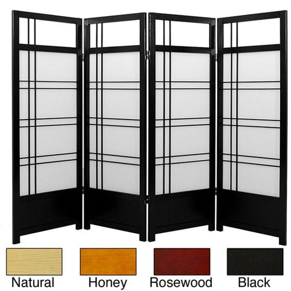 Spruce Wood 48-inch Kumo 4-panel Room Divider (China)