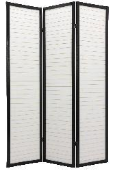 Wood 6-foot 3-panel Matchstick Room Divider (China)