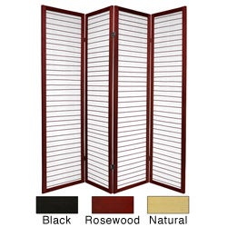 Wood 6-foot 4-panel Matchstick Room Divider (China)