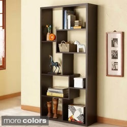 Furniture of America Verena Contoured Leveled Display Cabinet/ Bookcase
