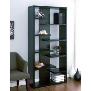 Furniture of America Lovi Contoured Leveled Display Cabinet/ Bookcase