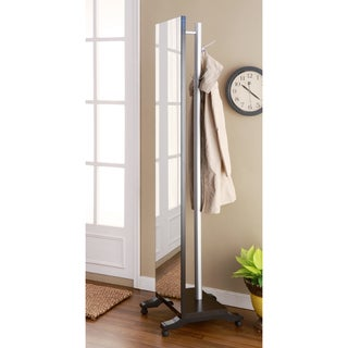Reversible Two-sided Coat Rack with Vanity Mirror