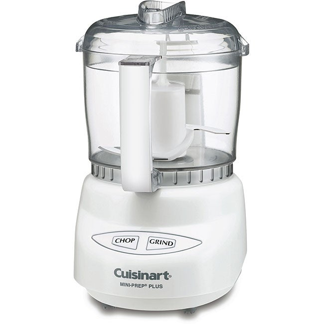 Cuisinart DLC-2AFR White 3-cup Mini Prep Plus Food Processor (Refurbished)
