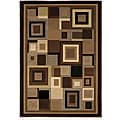Home Dynamix Reaction Collection Brown Machine Made Polypropylene Area Rug (7'10 x 10'2)