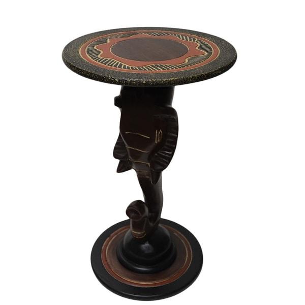 Handmade Cedar 'Elephant' Accent Table (Ghana)