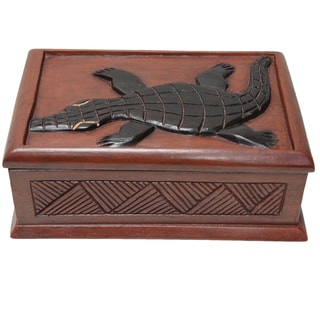 Wawa Wood 'Alligator' Accent Box (Ghana)