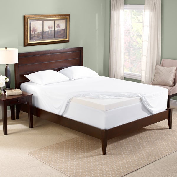 Bodipedic 3-inch Memory Foam Mattress Topper and Cover Set Queen Size (As Is Item)