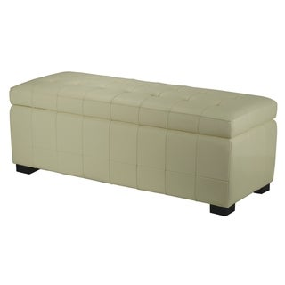 Manhattan Large Off-white Storage Bench