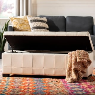 Safavieh Manhattan Large Off-white Storage Bench