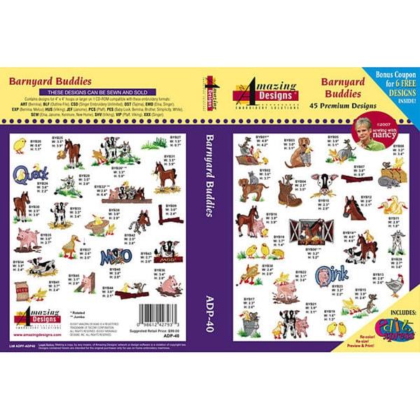 Amazing Designs 'Barnyard Buddies' Multi-format CD-Rom Software