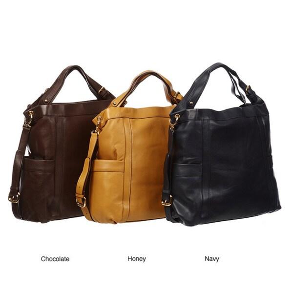 Presa 'Kennington' Oversized Leather Hobo Bag With Shoulder Strap 76