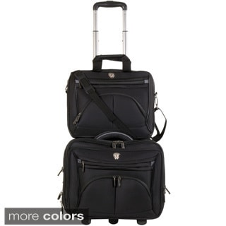 Calpak CEO 17-inch Rolling Laptop Case with Detachable 16-inch Laptop Briefcase
