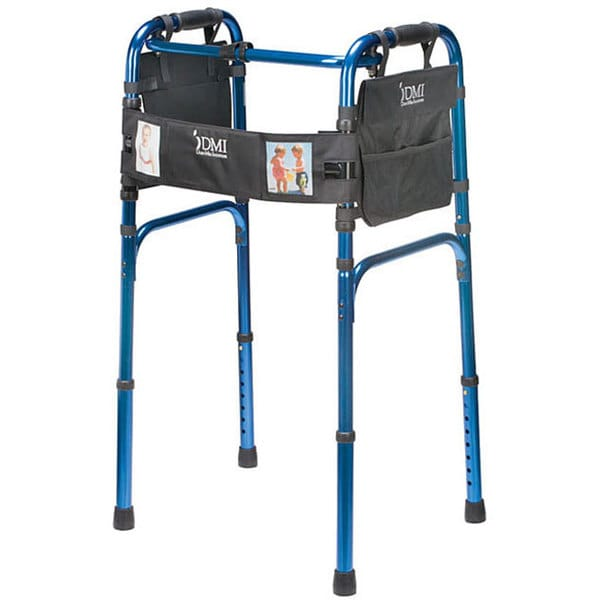 Mabis Freedom Series Deluxe Aluminum Blue Folding Walker