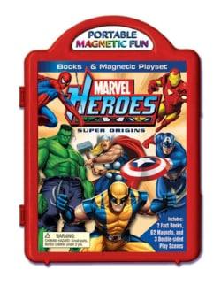 Marvel Heroes Super Origins Book & Magnetic Playset (Board book)