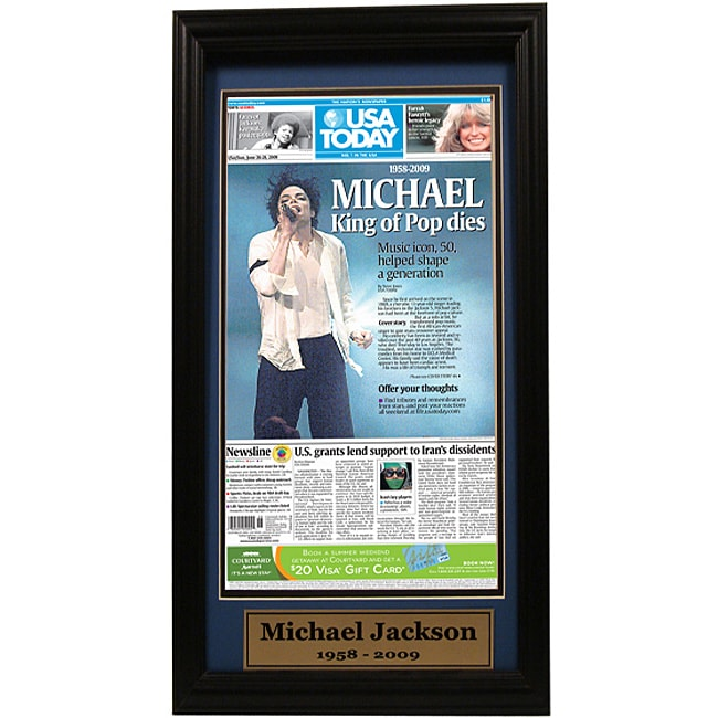 USA Today 'King of Pop' Paper Cover 12x18 Custom-framed Print