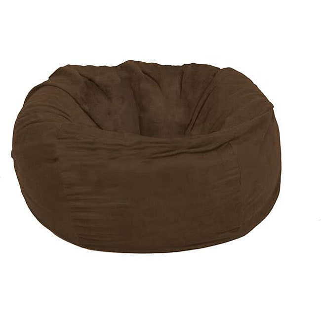 Fufsack large 5 foot chocolate lounge chair 12123713 for Bean bag chaise longue