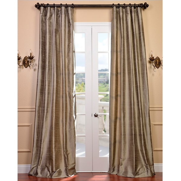 Exclusive Fabrics Signature Cashmere Textured Silk 120-inch Curtain Panel