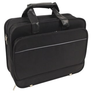 Black Ballistic Nylon Long Wear Laptop Briefcase