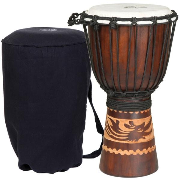Kalimantan Djembe Drum with Tote Bag (Indonesia)