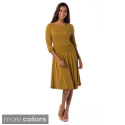 AtoZ Women's Boat-neck Dress