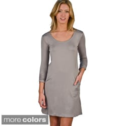 AtoZ Women's Scoop-neck Mini Dress