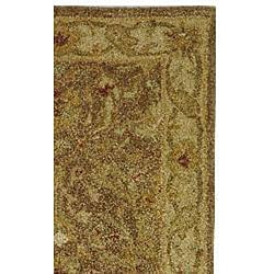 Safavieh Handmade Antiquities Treasure Brown/ Gold Wool Runner (2'3 x 16')