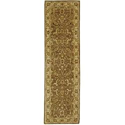 Safavieh Handmade Antiquities Treasure Brown/ Gold Wool Runner (2'3 x 20')