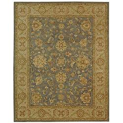 Safavieh Handmade Antiquities Jewel Grey Blue/ Beige Wool Rug (12' x 15')