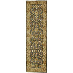 Safavieh Handmade Antiquities Jewel Grey Blue/ Beige Wool Runner (2'3 x 16')