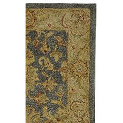 Handmade Antiquities Jewel Grey Blue/ Beige Wool Runner (2'3 x 20')