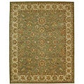 Handmade Antiquities Gem Green Wool Rug (12' x 18')