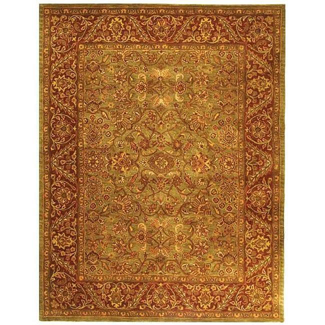 Safavieh Handmade Golden Jaipur Green/ Rust Wool Rug (12' x 15')