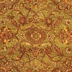 Safavieh Handmade Golden Jaipur Green/ Rust Wool Runner (2'3 x 14')