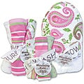 Trend Lab Blooming Baby 'Paisley' 10-piece Bath Accessories Set