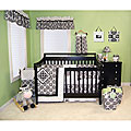 Trend Lab Versailles Black and White 4-piece Bedding Set