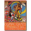 Olle Hjortzberg 'Olympic Games Stockholm 1912' Canvas Art