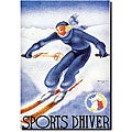 Arou 'Sports D'Hiver' Canvas Art